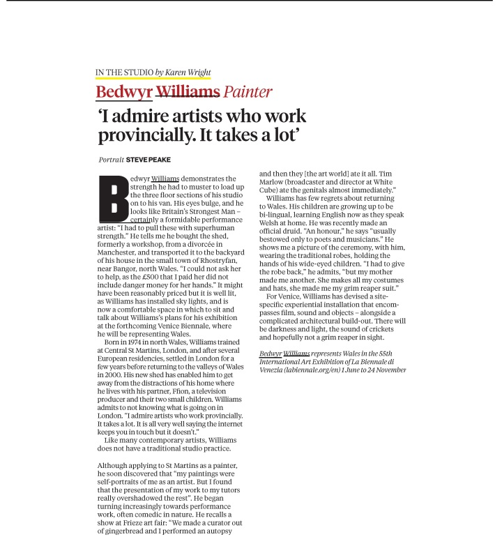 Wales in Venice_Independent Radar Magazine_4 May 2013_Page_1