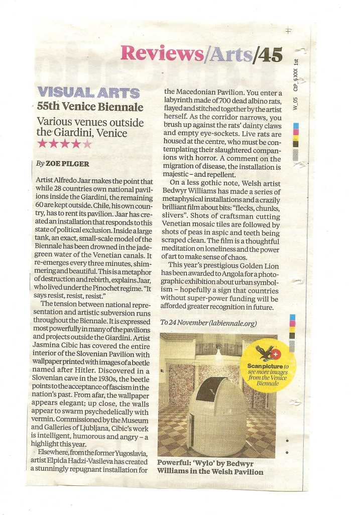 The Independent_WIV review print 6 June 2013