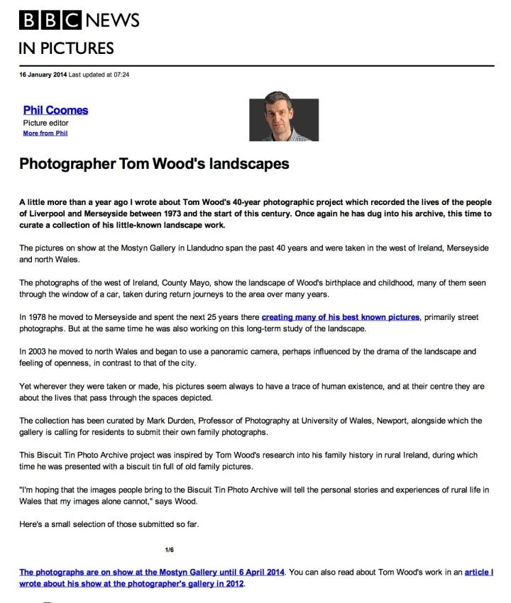 BBC News - Photographer Tom Wood's landscapes