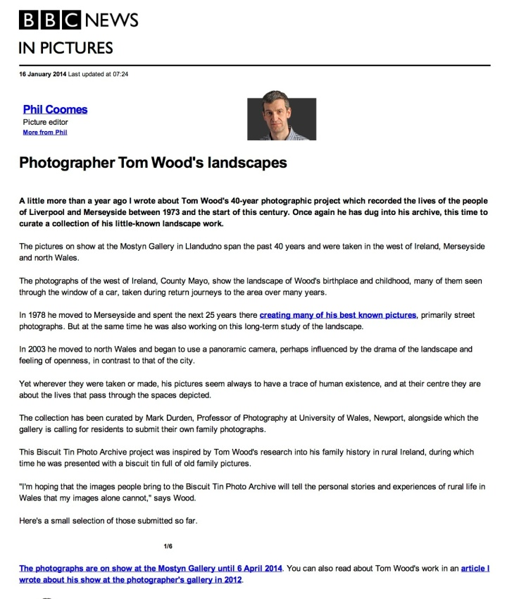 BBC News - Photographer Tom Wood's landscapes
