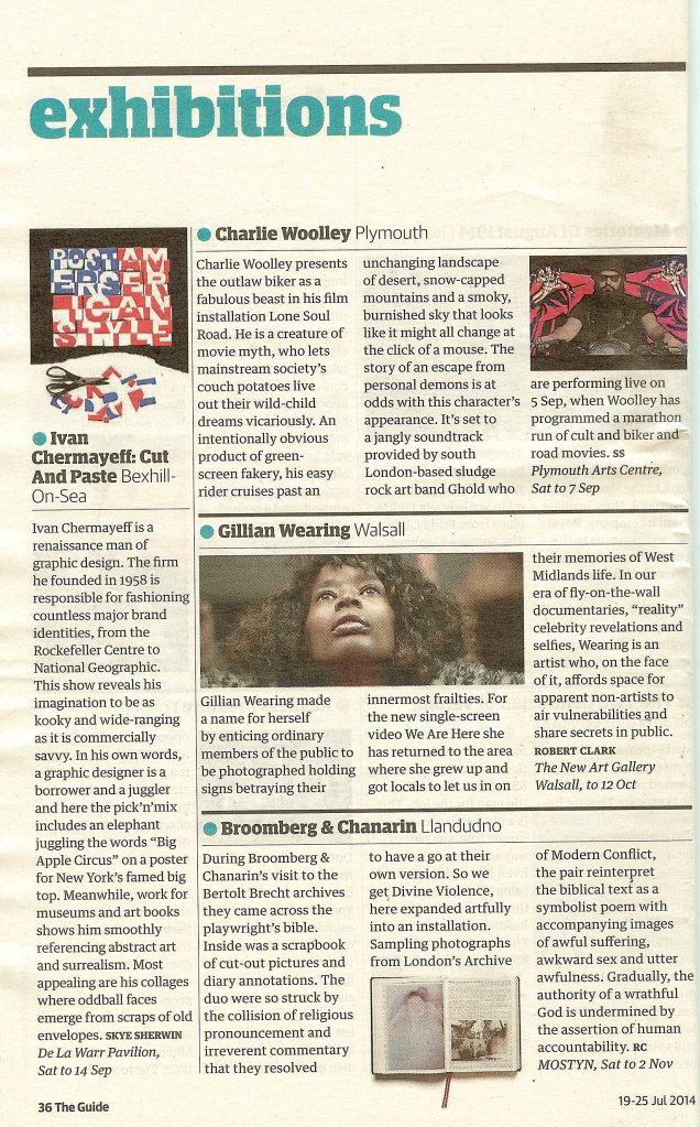 Guardian Guide_Divine Violence_MOSTYN_19 July 2014
