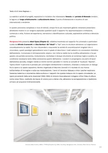 Rassegna Stampa selezionata_IDEAL-TYPES [Chapter 2]_Marignana Arte_Venezia, 2019_The Knack Studio_Page_39