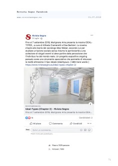Rassegna Stampa selezionata_IDEAL-TYPES [Chapter 2]_Marignana Arte_Venezia, 2019_The Knack Studio_Page_71